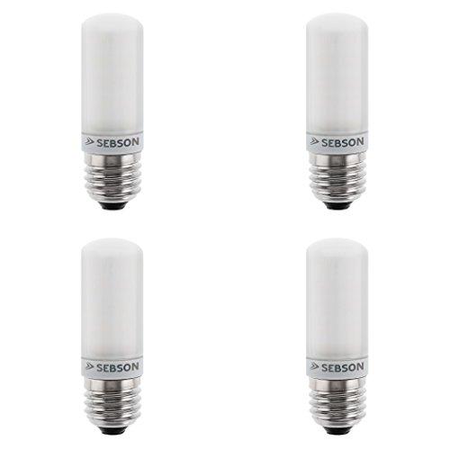 SEBSON® LED Lampe E27 4W warmweiß 3000k, ersetzt 30W, 380lm, Ra97, 230V LED Leuchtmittel flimmerfrei, E27 Cornlight/Maiskolben, 4er Pack