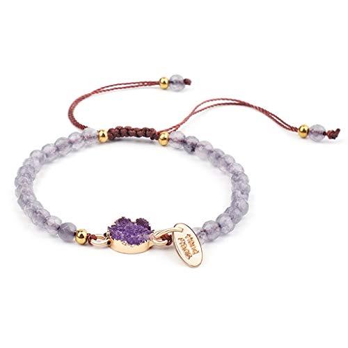 zhenzhen Frauen Harz Druzy Stein Perlen Armband Stapelbare Handcut Stretch Armreif
