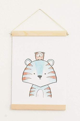 Gufri Bilderrahmen A5 A4 Holz Posterleiste Bilderleiste Holzrahmen Posterschiene Posterrahmen Plakatschiene Rahmen 21 cm Pine