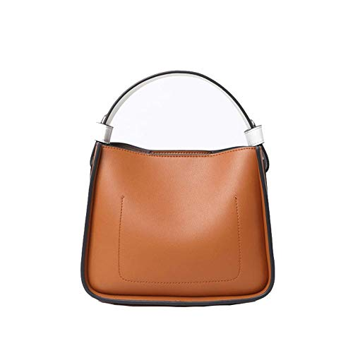 Dames handtas, mode emmer tas lederen handtas schoudertas diagonale tas handtas zwart, geschikt voor dating partijen om te werken op zakenreis
