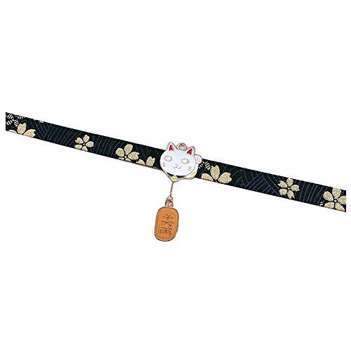 Zonfer Estilo Japonés Collar Gargantilla Collares Traje del Kimono Accesorios Paño Cuello Jewlery De La Mujer
