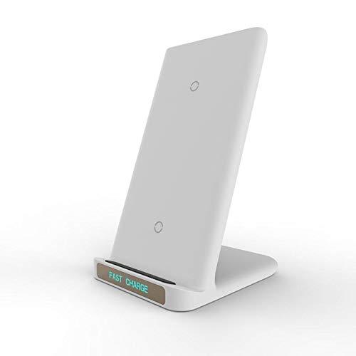 15W Qi Cargador Inalámbrico para Samsung Galaxy S20 / S9 / S8 / Note9 / 8 Soporte De Carga Rápida para iPhone Xiaomi Accesorios para Teléfonos Móviles (Color : White, Plug Type : Universal)