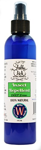 Shabby Chick Natural Products Natural Insect Repellent 100% Natural DEET Free Bug and Mosquito Spray, 8 oz