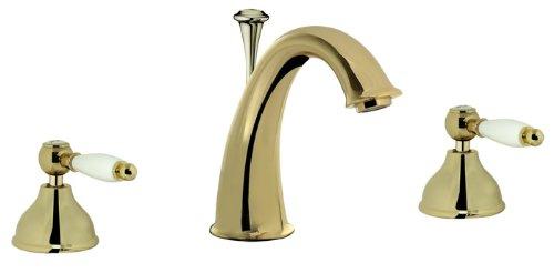 Serie vintage 3-agujero webert brillante{24} quilates blanco asas, con juego de diseño retro para lavabo, cobre