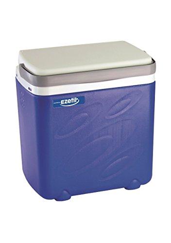 EZetil Passive Kühlbox 3Tage Eis, optimal für Sport, Freizeit, Camping und Outdooraktivitäten, Blau/Weiß