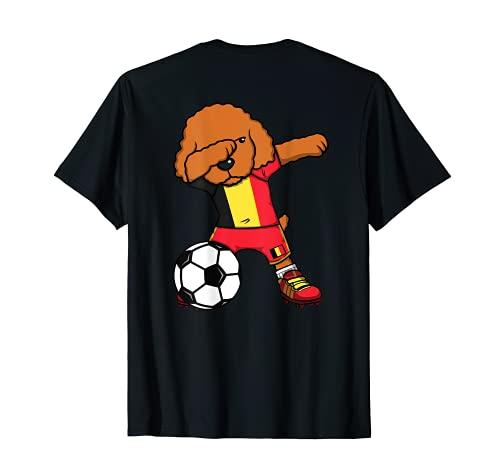 Dabbing Pudel Hund Belgien Fußball...