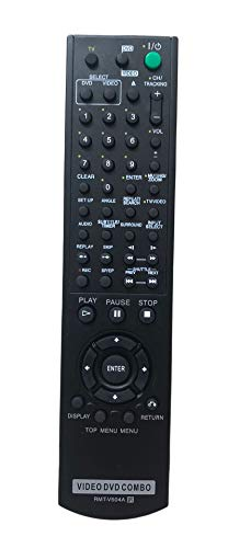 Replacement Remote Control for Sony RMT-V501A SLV-D100 SLV-D281P SLV-D380P YSP-4000BL DVD-VCR Combo Player