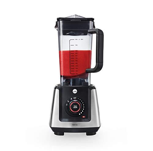 Wilfa POWER FUEL Batidora de vaso - 1200 vatios, resistente a roturas, función de calentamiento, 3 programas, 1,5 litros, negra