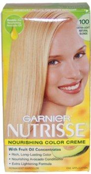Unisex Garnier Nutrisse Nourishing Color Creme #100 Extra Light Natural Blonde Hair Color 1 pcs sku# 1789494MA