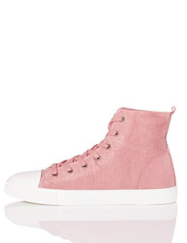 find. Hi-Top Canvas Sneaker a Collo Alto, Pink (Washed Pink), 37 EU