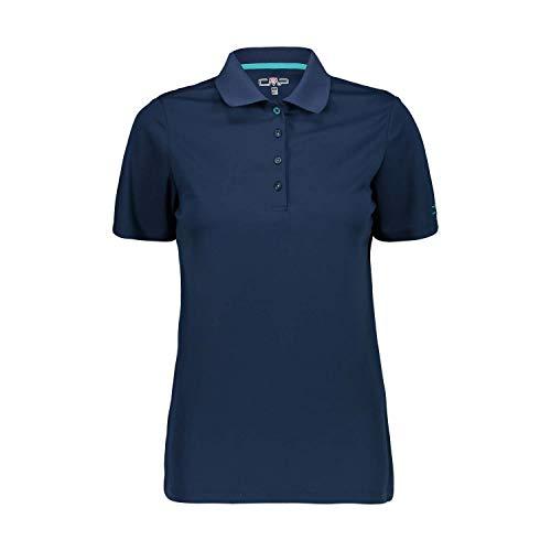 CMP Damen Atmungsaktives Poloshirt mit Komfort Fit, Blue, D46