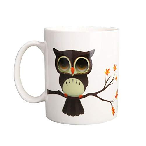 BESTonZON Thermoeffekt Tassen Farbwechsel Kaffeetasse Trinkbecher Geschenke (Eule)