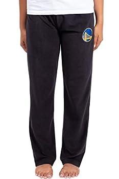 Ultra Game NBA Golden State Warriors Womens Sleepwear Super Soft Plush Pajama Loungewear Pants Black Large