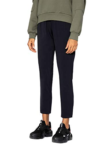 AJISAI 7/8 Joggers Travel Pants with Pockets Lounge Casual Stretch Workout Pants for Women Black M