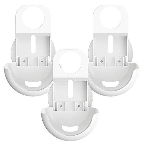 Walmeck Soporte de Montaje en Pared de Salida Solo para enrutador WiFi de Google Nest Instalación fácil y sin Soporte de Soporte de desorden de Cables Sin Tornillos, Blanco, Paquete de 3