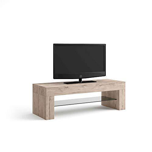 Mobilifiver Porta TV Evolution, Quercia, 112 x 40 x 36 cm, Nobilitato/Vetro, Made in Italy, Disponibile in Vari Colori