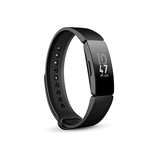Fitbit Inspire Health & Fitness Tracker with Auto-Exercise Recognition, 5 Day Battery, Sleep & Swim Tracking, Black