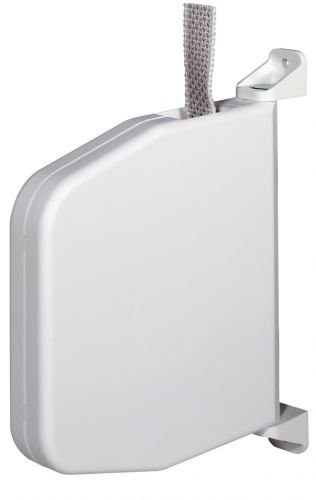 Selve Mini-Gurtwickler schwenkbar Aufputz weiß mit 7m Gurt 15mm breit