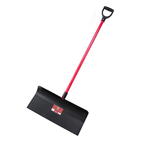 Bully Tools 92817 Steel Snow Pusher with Fiberglass D-Grip Handle, 24'