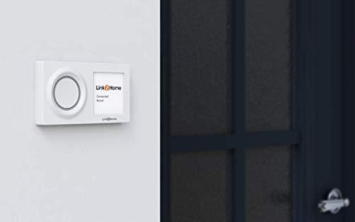 REV 0088277012 Ritter WiFi draadloze deurbel | Link2Home | WLAN| Doorbell | Wit | Set draadloze gong en knop IP44