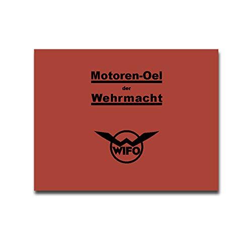 WIFO Sticker voor OL Dose TYP2 Repro Print Motor-Oel Typ166 26x20cm #A4457