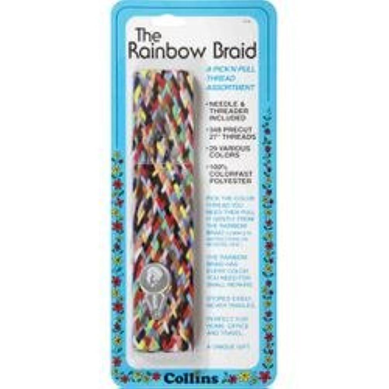 Bulk Buy: Dritz (6-Pack) Rainbow Thread Braid W/Needle Threader C14