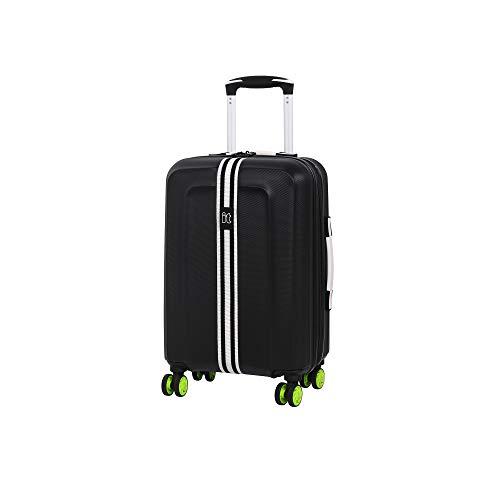 it luggage Jupiter 8 Wheel Cabin Spinner Expandable Hard Suitcase, 54 cm, 47 L, Black