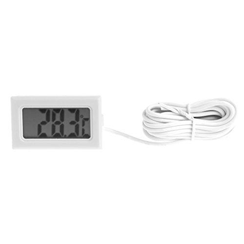 Cuigu LCD Digital Thermomètre Réfrigérateur Congélateur Aquarium Fish Tank Température Hygromètre (Probe Line: 2m)