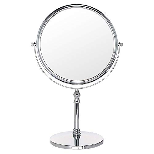 Cosprof Vanity Makeup Mirror - Best for Bathroom or Bedroom Table Top (8 inch, 2 SIDES,10x&1x)