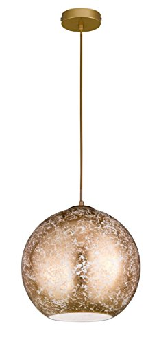 WOFI Spot / lampada, Metallo vetro + metallo., Colore: oro., 30 x 30 x 1500 cm, E27