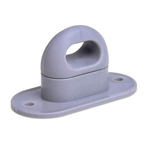 Drehverschluss für Ovalösen, Kunststoff, grau 42x22mm - MENGE wählbar, Menge:10 STÜCK