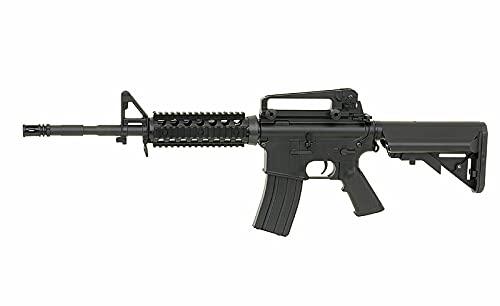 Rifle Airsoft eléctrico AEG M4 CM.507 guardamanos Rises picatiny Cyma Negro táctico réplica 6 mm 1 Julio