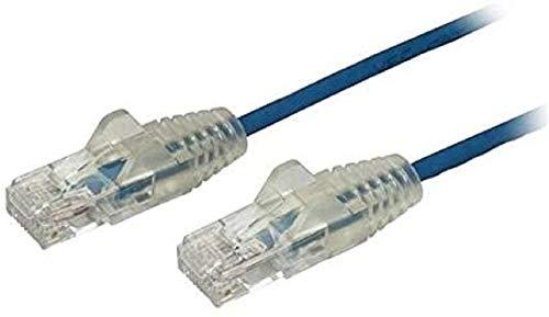 StarTech.com StarTech.com Cavo di Rete Ethernet Snagless CAT6 da 2,5m - Cavo Patch antigroviglio slim RJ45 - Blu