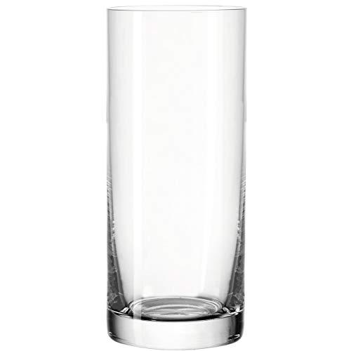 Leonardo Easy+ Trink-Gläser, 6er Set, spülmaschinenfeste Wasser-Gläser, geradlinige Glas-Becher, Getränke-Set, Größe L, 350 ml, 039616