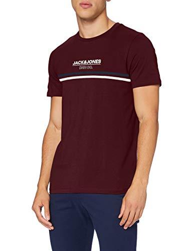 Jack & Jones JJSHAKER tee SS Crew Neck Camiseta, Port Royale, XXL para Hombre