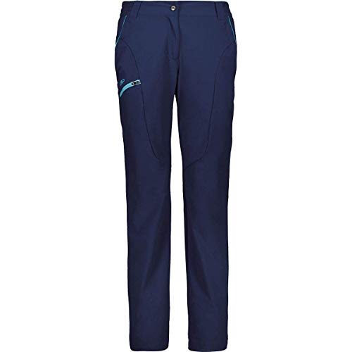 CMP Damen Lange Trekkinghose mit Farbdetail 30T6576 Hose, Blue, D40