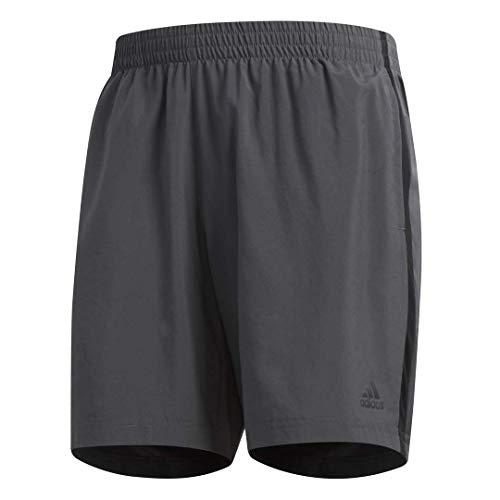 adidas Men's Own The Run Shorts, Grey/Black, Large