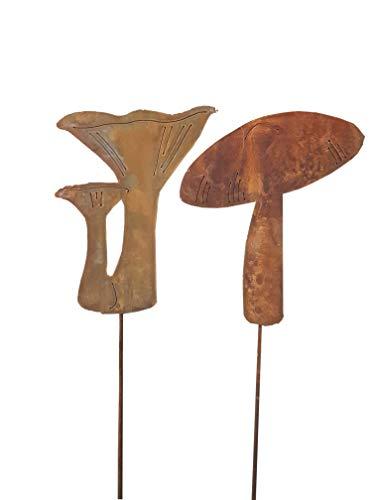 Blümelhuber Décoration de jardin en forme de champignon en métal rouillé