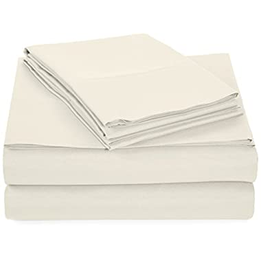 AmazonBasics Microfiber Sheet Set - Queen, Cream