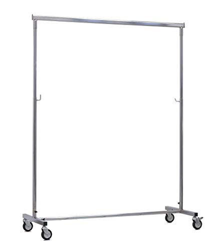 appendiabiti 75 cm BE.MAR stand appendiabiti professionale con barra appenderia di cm 150 allungabile a cm 220 e regolabile in altezza da cm 110 a 180 con ruote 80
