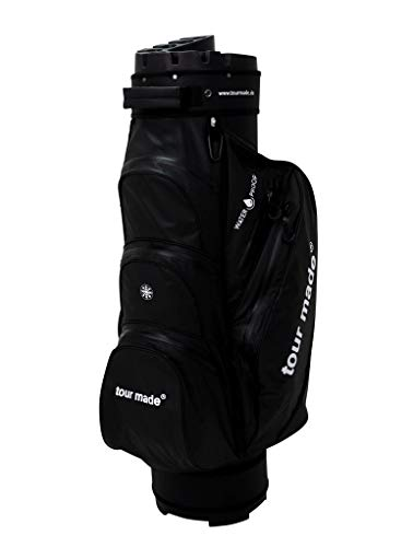 tour made Waterproof WP14 V2 Organizer Trolleybag Golfbag Golftasche Wasserdicht (schwarz)