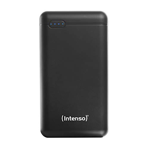 Intenso Powerbank XS 20000, externes Ladegerät 20000mAh, geeignet für Smartphone/Tablet PC/Digitalkamera/Nintendo Switch, schwarz