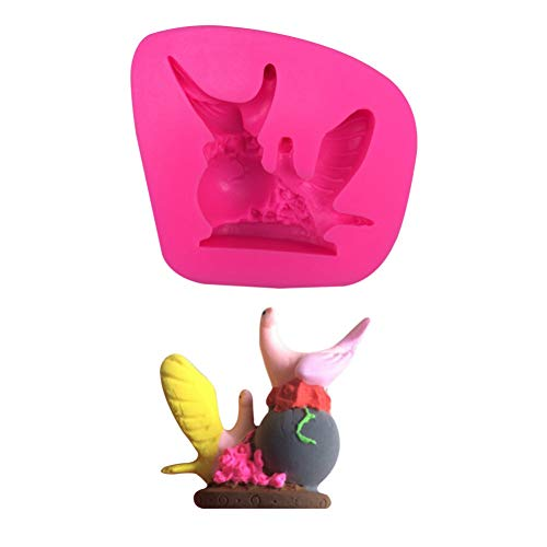 SMXGF 2 Tauben Vögel Tier Silikon 3D Fondant Kuchenform Kaugummipaste Dekoration Form Silikonform Kuchen Dekorieren Fondant