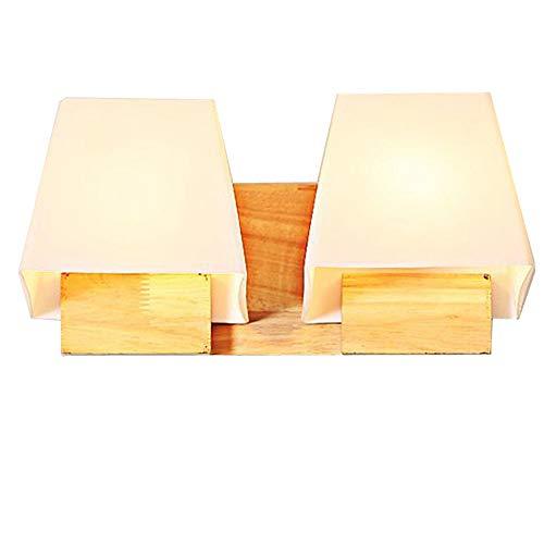 Moderne en bois verre trapèze Cube Chambre à coucher Chevet lampe murale miroir de salle de bain avant couloir balcon couloir éclairage mural Fixations