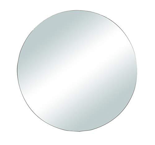 Rayher 46453000 Spiegelplatte rund zum Selbstgestalten und Dekorieren, Spiegelteller für Tischdeko, 20 cm, Silber