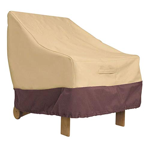 HFTYCC Funda de sofá para Muebles de Patio, 420D, 100% Impermeable, a Prueba de Polvo, de poliéster, Funda Protectora para sofá con Bolsa de almacenamiento-147 * 83 * 79cm_Beige