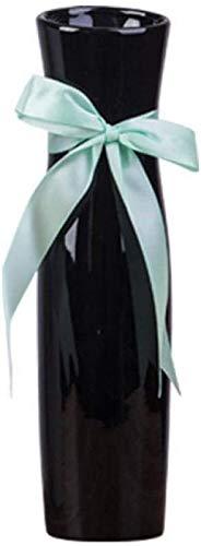 JJDSN Estatua Adornos Esculturas Moda Creativa Sala de Estar Decoración Gabinete de Vino Mesa Decoración del Piso Adornos Arreglo Floral de cerámica Flor Florero Blanco-B