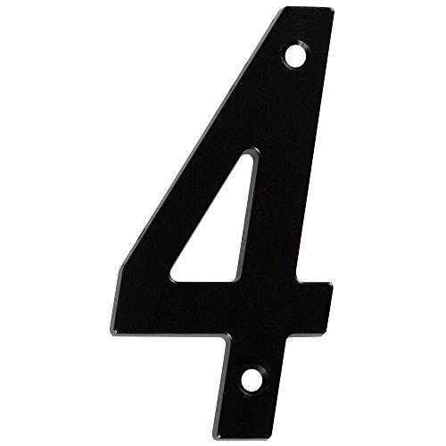 National Hardware N238-667 Numéro de maison, noir, 4\