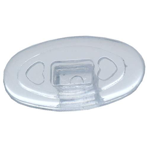 2 Paar (4 Stück) Nasenpads/Brillenpads - Silikon Klicksystem, verschie. Größen (Oval 13mm)