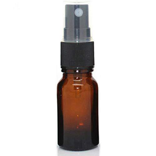 Gaetooely 30ML Braune Glas Flasche mit Schwarzem Zersttuber, Nachfüllbarer Behhlter für therische le/Aromatherapie